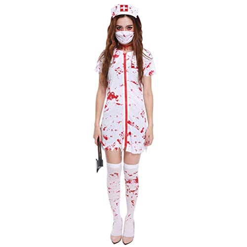 Nurse Killer Halloween Cosplay Party Prop Dress Stage