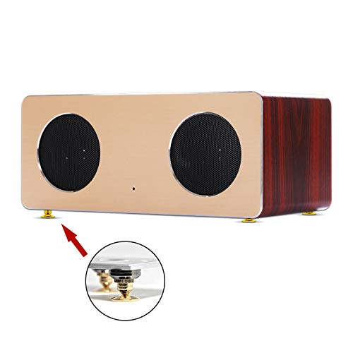 8 Set Golden Speaker Spikes, Speaker Stands Subwoofer CD Audio Amplifier Turntable Isolation Stand Feet Cone Base Pads by Awpeye (Image #5)