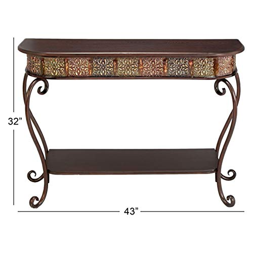 Console Sofa Table Entryway Wood Metal Living Room Vintage Accent Antique Look Traditional - Sofa Traditional Metal Table