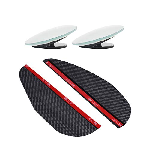 Ciyoon 2019 New Black Rear View Mirror Eyebrow Rain Visor Guard Wide Angle Rear Side View Spot - Smoke Guard Black