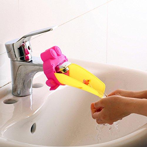 Cute Wasserhahn Extender für Kinder Bequemlichkeit Händewaschen Krabbe-Form