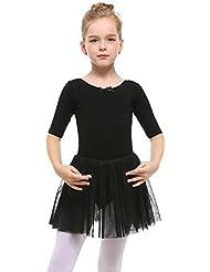 STELLE Toddler/Girls Cute Tutu Dress Leotard for Dance, Gymnastics and Ballet