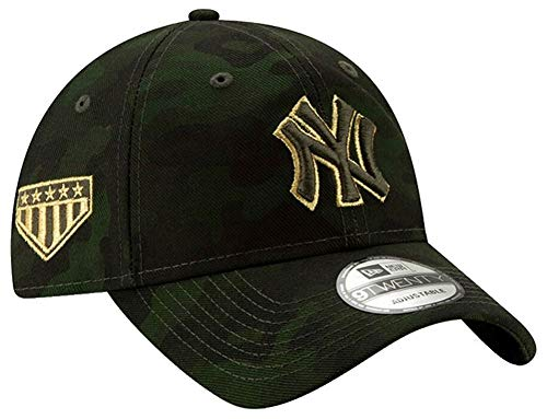 Yankees Camo - New Era New York Yankees 2019 MLB Armed Forces Day 9TWENTY Adjustable Hat - Camo