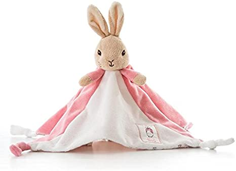 Flopsy rabbit embroidered comfort blanket personalised FREE from the peter ra...