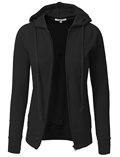 NE PEOPLE Women Casual Light Weight Thermal/Plain Hoodie