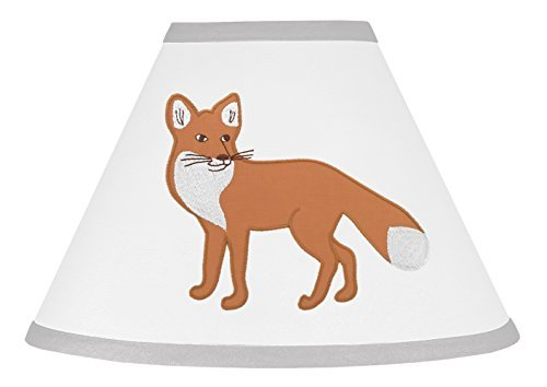 Sweet Jojo Designs Grey and White Woodland Animal Fox Toile Girl or Boy Baby Childrens Lamp Shade by Sweet Jojo Designs