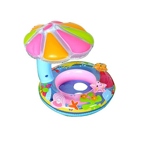 Kids Inflatable Sunshade Water Ring Baby Floating Swimmin...