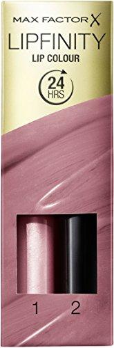 Max Factor Lipfinity Lipstick for Women, 003 Mellow Riose, 0.14 Ounce