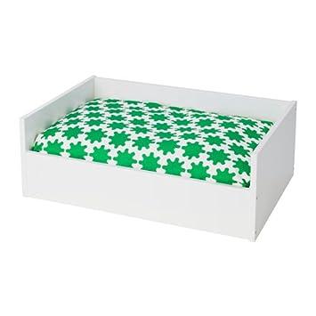 Amazon.com: IKEA Pet cama con Pad, Blanco, Verde, Color ...