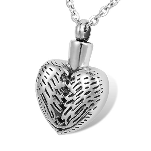 HOUSWEETY Keepsake Necklace Stainless Memorial