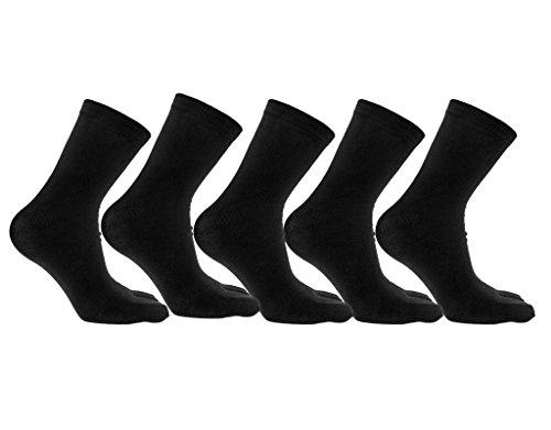 BONAMART 5 Pack Women Men Unisex Split Two Toe Tube Bamboo Socks