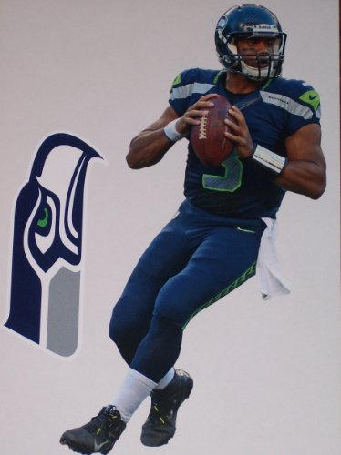 Russell Wilson Mini FATHEAD Seattle Seahawks Official NFL Vinyl Wall Graphics 7