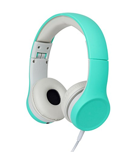 Snug Play+ Kids Headphones Volume Limiting and Audio Sharing Port (Aqua)