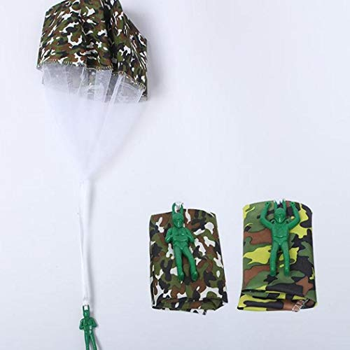 Caiuet Cartoon Soldier Shape Parachute Toys Kids Outdoor Fun Game Kites by Caiuet (Image #4)