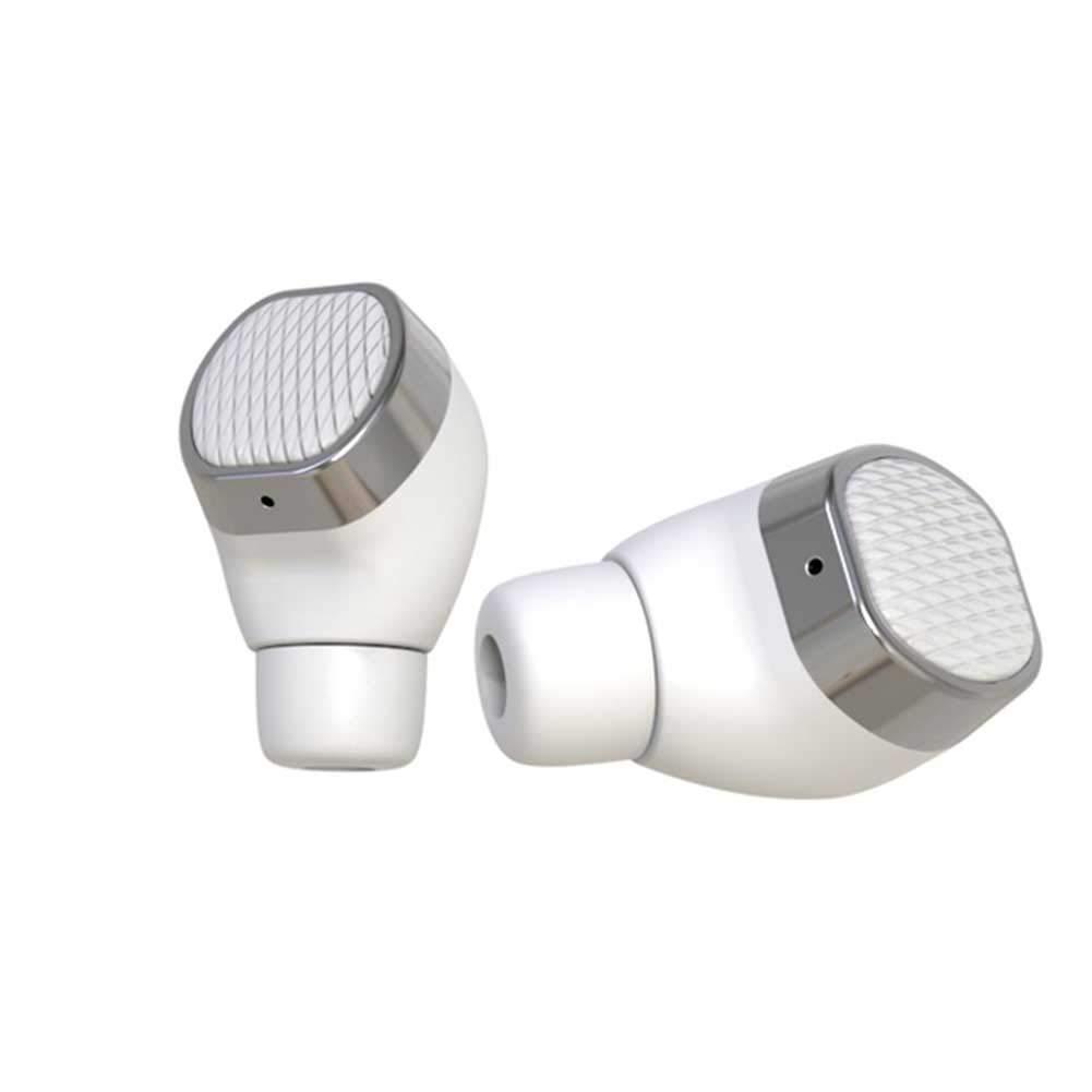 WYKsoku Bluetooth Earphones Headphones, Stereo Built-in Mic Bluetooth 5.0 Wireless Earphones Earbuds with Charging Case - White