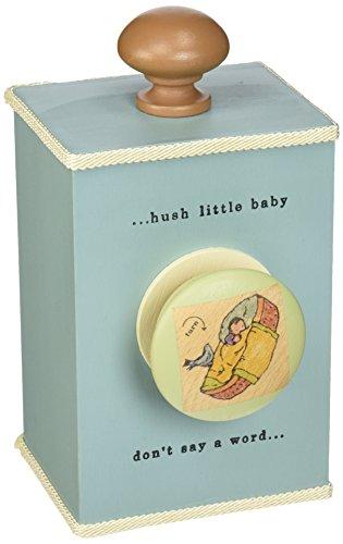 Tree By Kerri Lee Wooden Windup Music Box Hush Little Baby, Turquoise