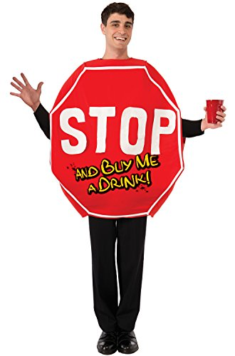 Stop Sign Costume (Forum Novelties Men's Stop Sign Costume, Red, One Size)