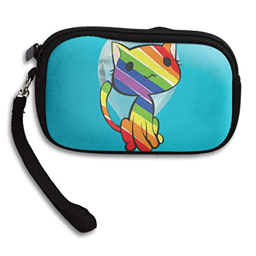 Rainbow Printing Purse Receiving Small Deluxe Portable Bag Cat rBvfr