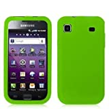 Neon Green Silicone Rubber Gel Soft Skin Case Cover for Samsung Galaxy S 4g Phone