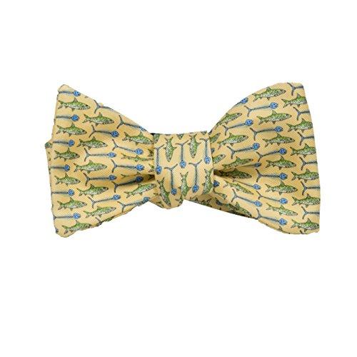 (Peter-Blair Men's Yellow Bonefish 100% Silk Bow Tie Handmade in USA (39BFY3BT))