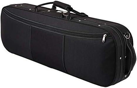 バイオリンケース 軽量バイオリンバッグバイオリンケース付き肥厚オックスフォード布バイオリンショルダーバッグ 入念な手作業による手工製品 (Color : Black, Size : 4/4size)