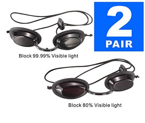 Dermapeel UV Eye Protection Tanning Goggles Eyeshields PDT LED Machine Eye Protection-Pair (Googles Eye Protection)