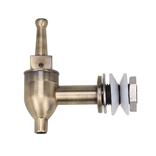 Lyty Brass Replacement Spigot/Faucet/Tap for Beverage Dispenser 18mm, Chrome Finish ()