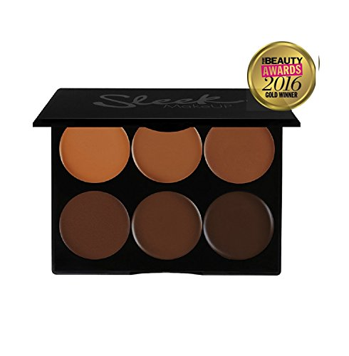 Sleek Makeup Contour and Highlighting Makeup Kit - Contouring Foundation/Concealer Palette - for Extra Dark Skin Tones, 12g/0.43oz