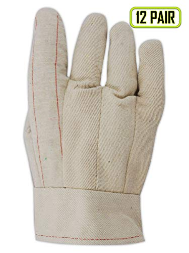 - Magid Glove & Safety 596BT Heater Beater 22 oz. Cotton Canvas Hot Mill Gloves, Large, Natural (Pack of 12)