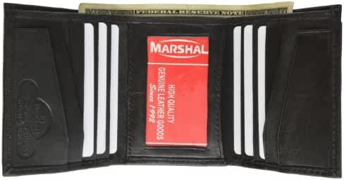 Soft Leather Lambskin Wallet With Center ID Card Window Credit Card Wallet by Marshal