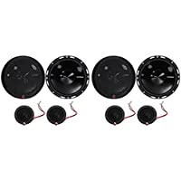 2-Pairs Rockford Fosgate P165-SI Punch 240w 6.5 Car Component Speakers-Euro Fit
