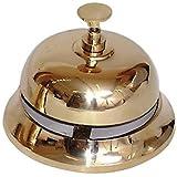 Reception Desk Bell, Polished Brass
