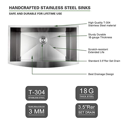 Buy stainless steel farmhouse sink