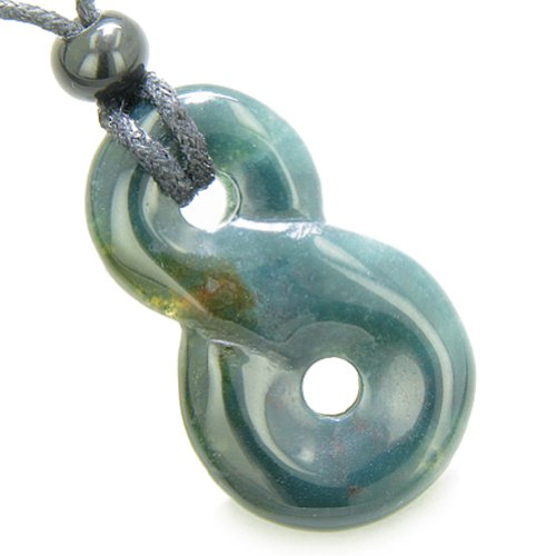 Infinity Magic Powers Knot Lucky Charm Good Luck Amulet Indian Agate Pendant - Agate Pendant Indian