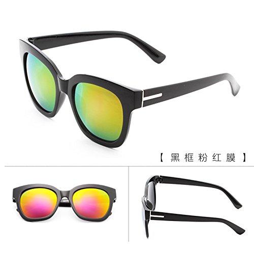 lunettes de soleil une dame a le visage rond korean rétro - yeux star des lunettes des lunettes de soleil les marées nouveau cycle.boîte noire (sac) grey film S1dellU