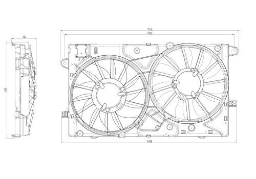 TYC 622850 Chevrolet Malibu Replacement A/C Condenser Fan (Chevrolet Malibu A/c Condenser)