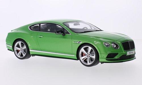 Bentley continental GTV8S, metallizzato-verde, modello di automobile, modello prefabbricato, GT spirito 1 18 Modello esclusivamente Da Collezione