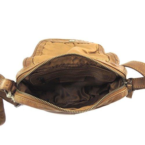 Borsa in pelle Gianni Contiintrecciata in cognac - 22x16,5x6 cm.