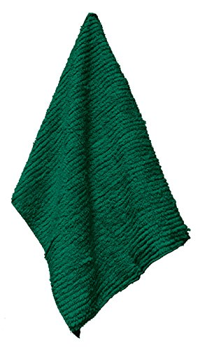 Janey Lynn's Designs Shaggie Chenille Cotton Towels, Green with Ivy