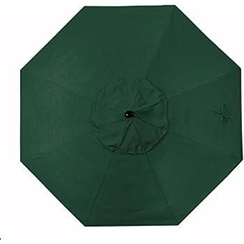 california umbrella replacement canopy cover in sunbrella forest green umbrella 9. Black Bedroom Furniture Sets. Home Design Ideas