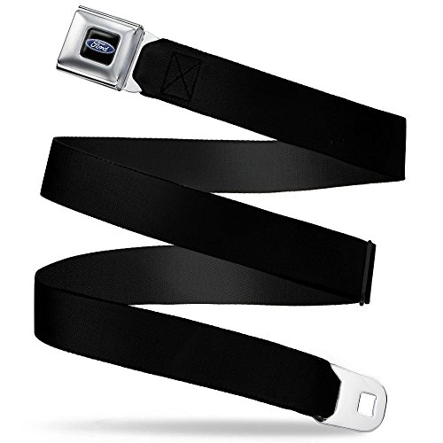 Buckle-Down Seatbelt Belt Ford Black Regular (Belt Ford Men Buckles For)