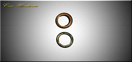 Curtain Grommet 40 mm Heavy Duty Eyelets Pack Of 100 - Washer With 8 Lock Holes For Maximum Grip - 4 Colors Option (Antique Copper)