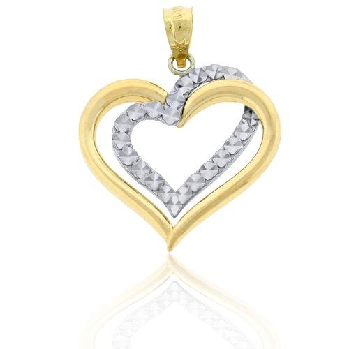 10k Gold Heart Charm - 5