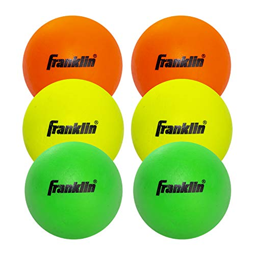 Franklin Sports Youth Lacrosse Balls - Soft Rubber Lacrosse Balls for Kids - Perfect for Beginners - Indoor and Outdoor Use - 6 Pack