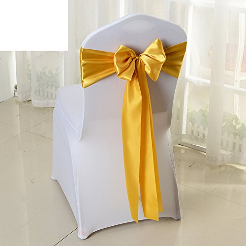 Wedding chair back cover/decorative streamers/bow ribbon-B by WXTFQB