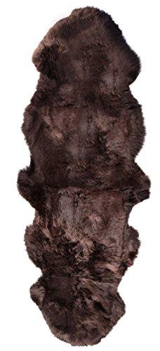 Barnscroft Of Devon New 100% Genuine Extra Large Chocolate Brown Sheepskin Rug 180 x...