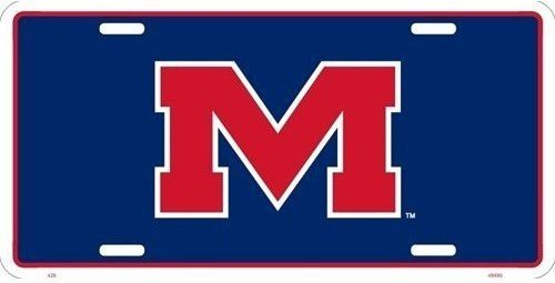 Ole Miss Rebels Aluminum License Plate 6 X -