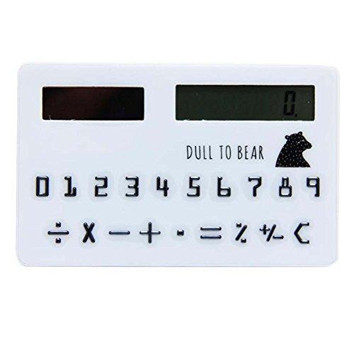Creative Solar Calculator Cute Mini Calculator, White by DRAGON SONIC