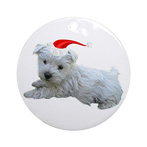 Funny Ornaments Westie Round Xmas Holiday Ornaments for Kids Christmas Tree Decorations