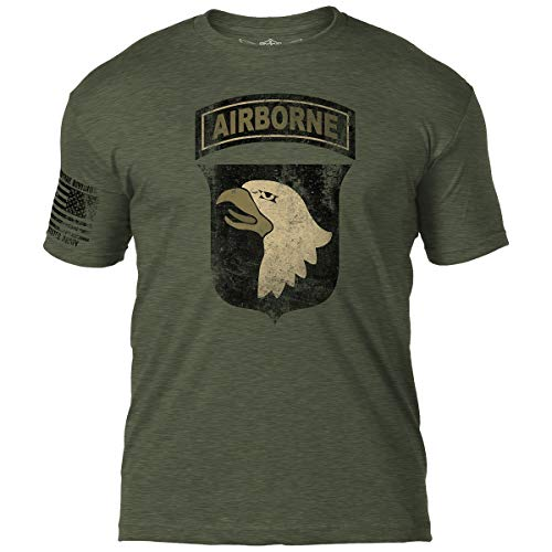 7.62 Design Army 101st Airborne Division Men's Tee Heather Military Green
